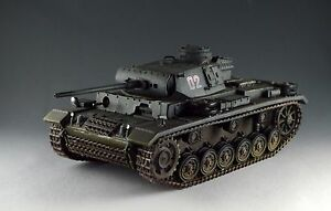 Details about 1/30 WW2 German Panzer III Ausf L with metal track and wheel  Grey Version