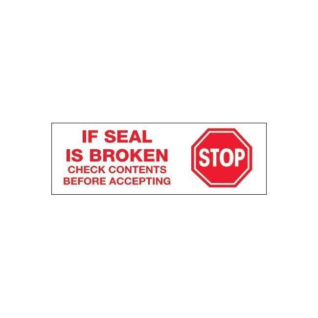 Tape Logic Pre-Printed Sealing Tape Stop If Seal Is Broken... 3x110 yds.  24 CS