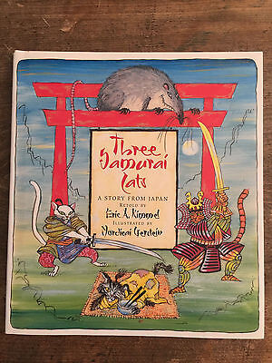 Three Samurai Cats, by Eric A. Kimmel -2003- Signed 1st Ed., Hardcover Book