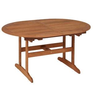 Rl 3002 Gartentisch Holztisch Tisch Holz Oval Ausziehbar 107 X 150