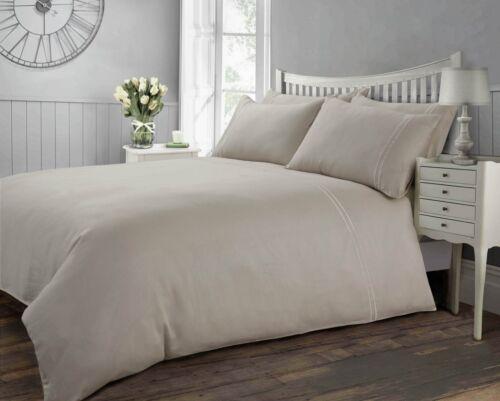 100/% Luxury Hotel Quality Cotton Duvet Cover Set White Cream 300 Thread Count