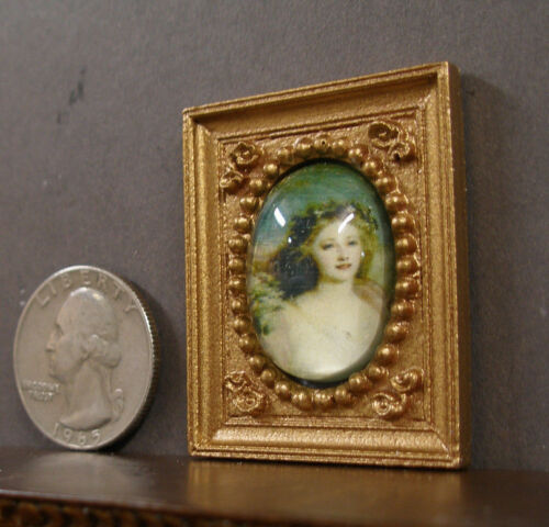 "HALF  SCALE ~  1//2/""  scale ~  FRAMED  PICTURE ~ Dollhouse ~ 1//24 or 1:12 scale"