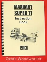Emco Maximat Super 11 Metal Lathe Instruction Manual 0296
