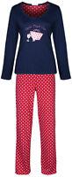 Marks & Spencer Womens Cotton Pyjamas Set Long M&S PJs Nightwear Bottoms & Top