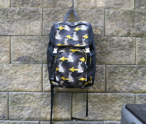 Prada Digital Bunny Print Nylon Backpack