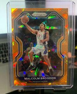 Malcolm Brogdon 2021 Panini Prizm #78 Orange Cracked Ice Prizm Pacers