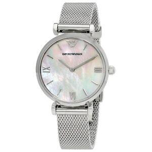 Emporio-Armani-AR1955-Ladies-Stainless-Steel-Mesh-Silver-Watch-2-Year-Warranty