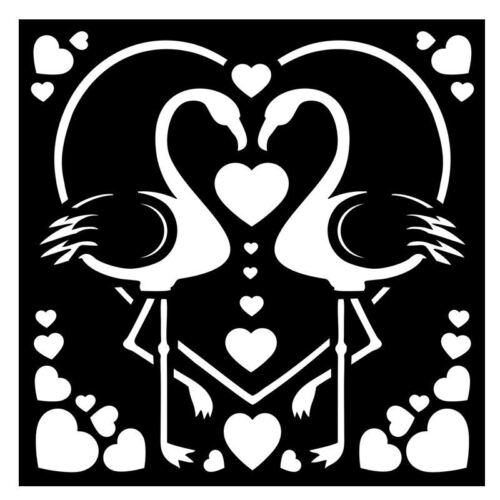 """Pink Flamingos That Special Touch Mask Art Stencil 6/"""" x 6/"""""""