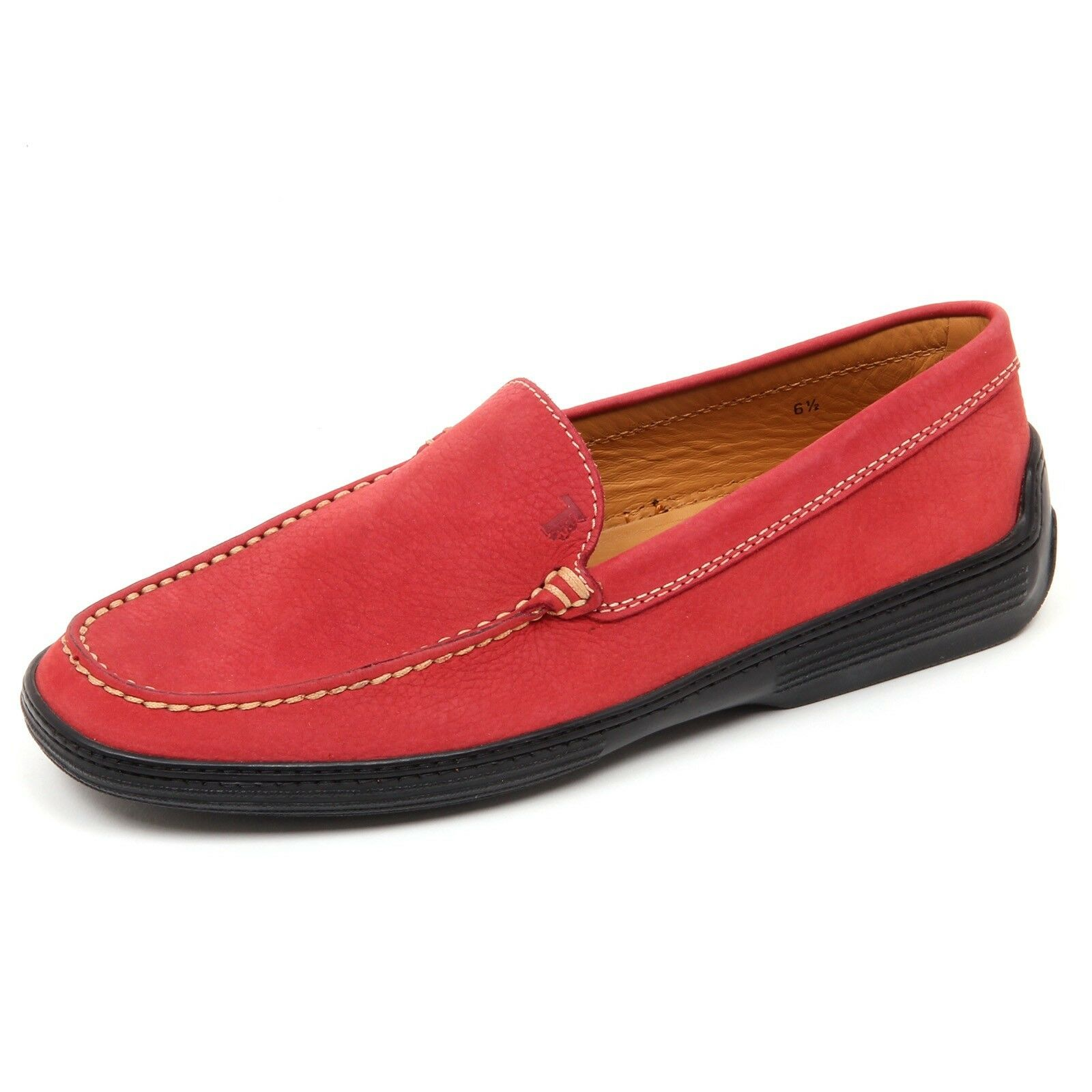 D2408 mocassino barca loafer uomo TOD'S RESTYLING rosso loafer barca shoe man 940b9d