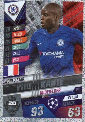 n /'golo Kanté w20 World Star Topps match coronó 101 temporada 2019//2020