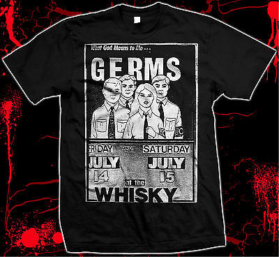 The Germs - Whiskey Flyer - Pre-shrunk, hand silk screened 100% cotton t-shirt