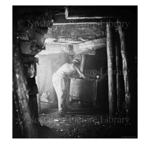 PHOTO 6 MINING SCENE INSIDE  OF CANNOCK CHASE COAL MINE STAFFORDSHIRE c1890