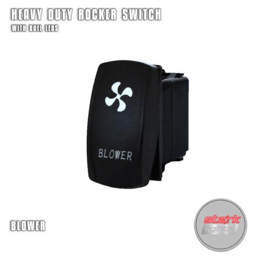 OFF BLOWER GREEN Laser Etched Backlit LED Rocker Switch Dual Light 20A 12V ON