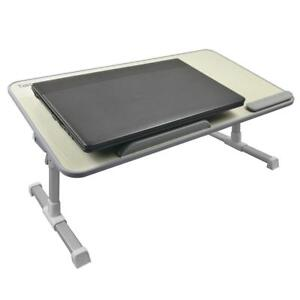 Height Adjustable Folding Laptop Table Wooden Sit Stand Up Desk