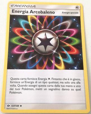 POKEMON Energia Arcobaleno 137//149 Non Comune SOLE E LUNA Italiano