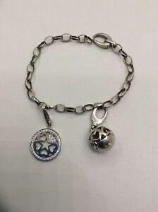 JETTE JOOP Armband mit zwei Amhängern Charms 925 Silber | eBay