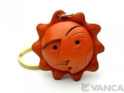 "L Keychain//Keyring *VANCA* Made in Japan #56805 /""A Family/"" Handmade 3D Leather"