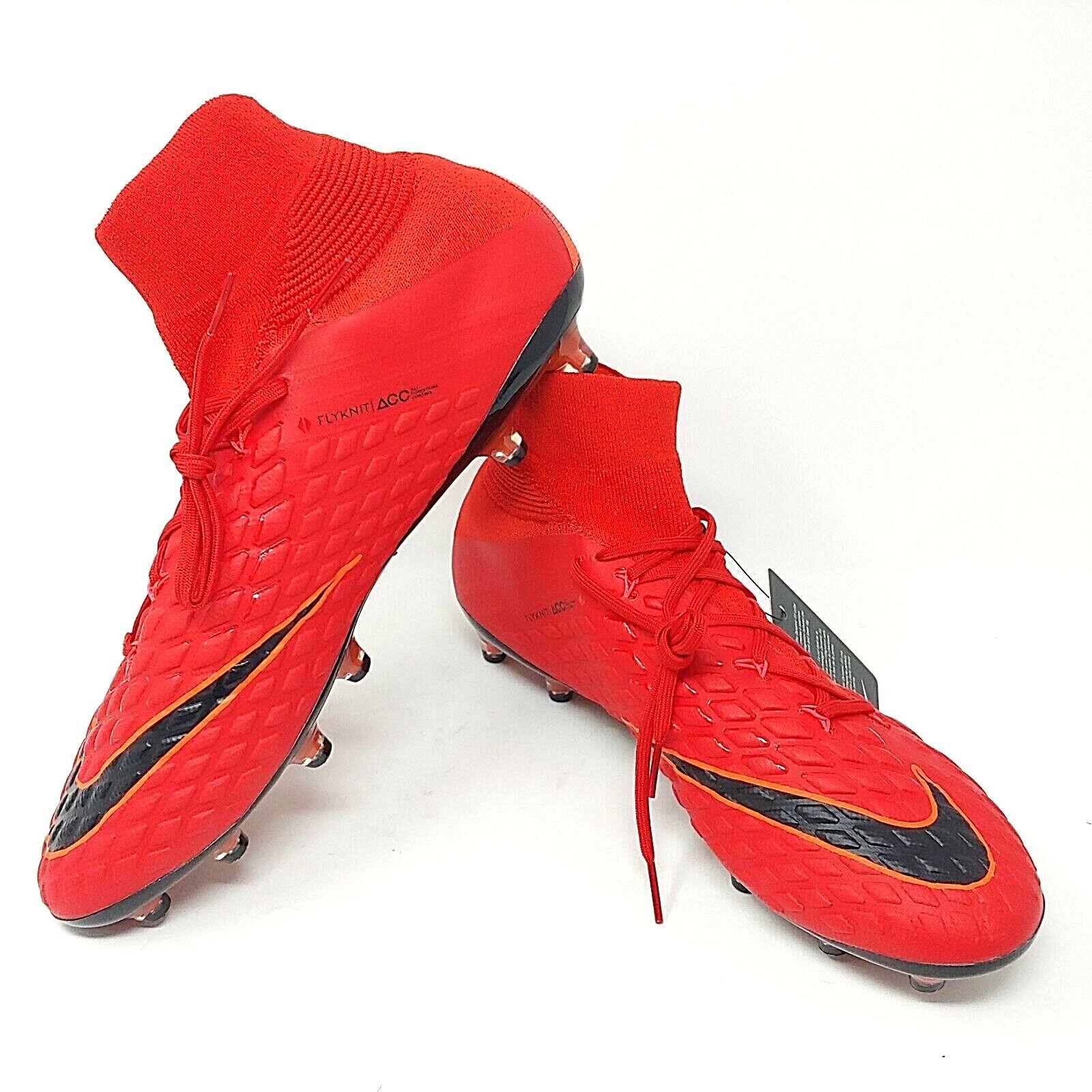 Nike Hypervenom Phantom III Ag Acc pro Rot Schwarz Fußball Stollen Stiefel Verkaufspreis