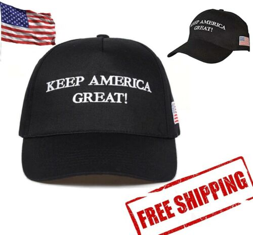 NEW President Trump 2020 Elections /'Keep America Great!/' Black Baseball Hat