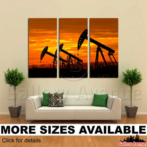 3 Panel Canvas Picture Print Oil pumps 3.2