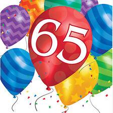 Item 3 Happy 65th Birthday Age 65 Party Supplies BALLOON BLAST LUNCH DINNER NAPKINS