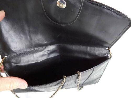 di nero in vintage pitone tracolla con Tracolla a pelle catena I8vYAxY