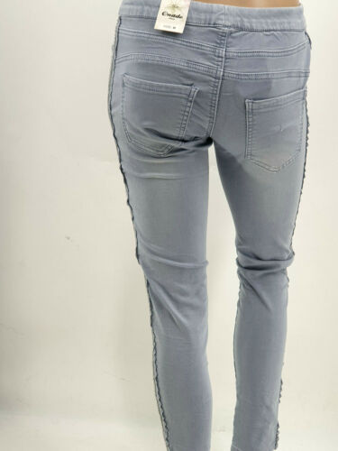 Jogging Pants chic/&bequem  seitlicher Galonstreifen+Spitzen 3 Farben Gr.36-42//44