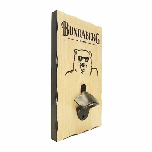 BOTTLE OPENER BUNDABERG BUNDY RUM COMBO PACK RUBBER BAR MAT RUNNER PVC BA...