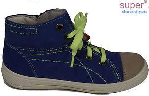 SUPERFIT-Schuhe-Bootie-Stiefeletten-Reisverschluss-Blau-echt-Leder-NEU