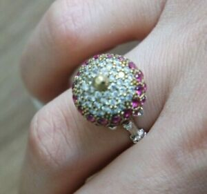 925-Sterling-Silver-Handmade-Authetic-Turkish-Ruby-Ladies-Ring-Size-6-9