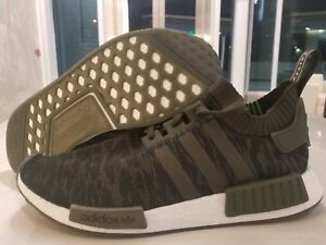Details about Adidas NMD R1 PK Primeknit Boost Night Cargo Green Camo Olive SZ ( CQ2445 )