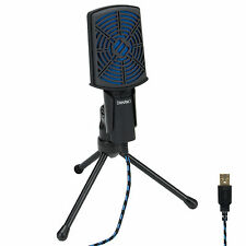 ENHANCE USB Condenser Microphone for PC / Laptop Gaming with Adjustable Sta
