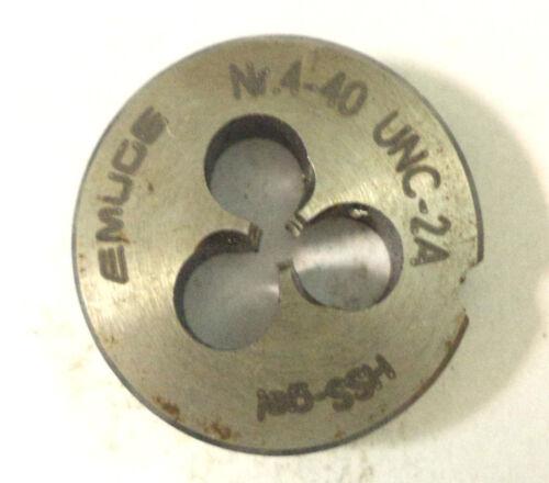 Gewindeschneideisen Schneideisen EMUGE  HSS  4-40 UNC 2A gel gebraucht  A273