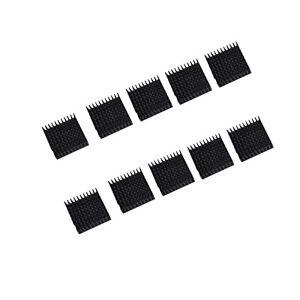 US-Stock-10pcs-35-x-35-x-10mm-Heat-Sink-Cooling-Aluminum-Heatsink-CPU-IC-LED