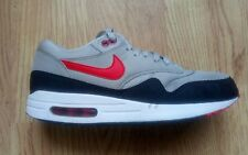 Nike Air Max 1 Essential white & black & red trainers 537383 060 ~ UK 8.5