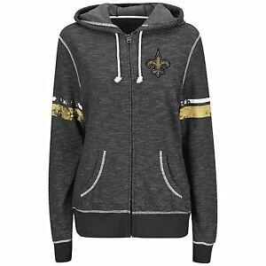Image is loading New-Orleans-Saints-WOMENS-Sweatshirt -Athletic-Tradition-Full- 89c88c6c62