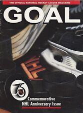 GOAL MAGAZINE NHL 75TH ANNIVERSARY ISSUE