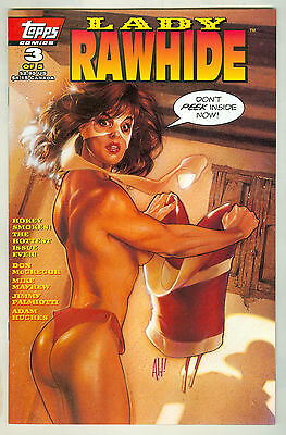 LADY RAWHIDE TOPPS COMICS #3 OF 5 ADAM HUGHES COVER PINUP CHEESECAKE PRETTY GIRL