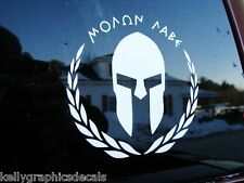 Molon Labe ΜΟΛΩΝ ΛΑΒΕ 2nd Amendment Gladiator Spartan Gun Rights Decal Sticker