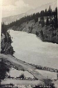 Postcard-Bow-River-Falls-Banff-Bow-Valley-Canada-Vintage-P19