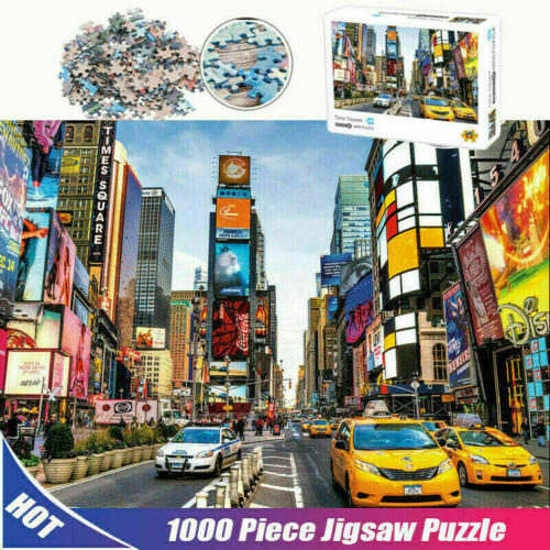 Jigsaw Puzzles 1000 Piece New York Times Square for Adult Kids Puzzle Home Decor