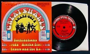 GREAT SHAKES~Shake Out 2~Picture Sleeve & EP 45-BUCKINGHAMS-THE RAIDERS-BYRDS