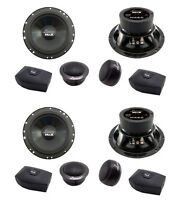 4) Lanzar Mx6c 6.5 400w 2-way Component Car Audio Speakers Stereo 6-1/2 on sale