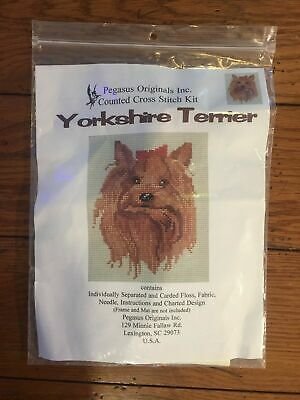 YORKSHIRE TERRIER Counted Cross Stitch Kit WONDERFUL NEEDLE