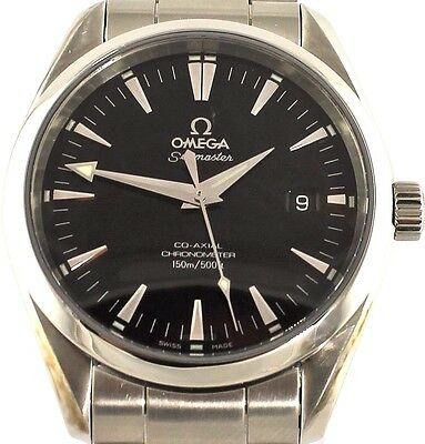 AUTHENTIC OMEGA SEAMASTER AQUA TERRA 2503.50 AUTOMATIC CO-AXIAL MENS BLACK WATCH