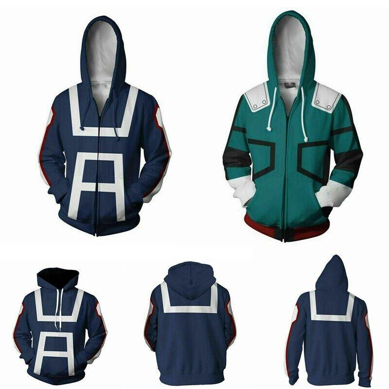 My Boku no Hero Academia Hoodie Midoriya Izuku Deku Academy Uniform Sweatshirt