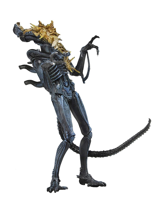 Neca - aliens, reihe 12 xenomorph krieger blau (schlacht beschädigt) 12,9.abb.