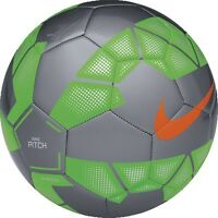 Nike T90 Total 90 Pitch Soccer Ball 2015 Brand Gray (silver) - Green