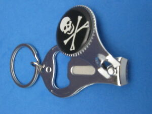 New Keychain Bottle Opener Skull and Crossbones or  Thumbs Up Bottle Opener