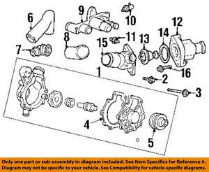 mercury ford oem 99 02 cougar 2 5l v6 water pump inlet hose rh ebay com V10 Engine V4 Engine